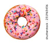 Donut With Sprinkles Isolated...