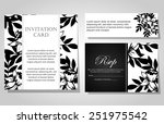 wedding invitation cards with... | Shutterstock . vector #251975542