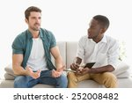 therapist taking notes on his... | Shutterstock . vector #252008482