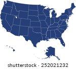 usa map | Shutterstock .eps vector #252021232