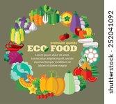 eco food  vegetables . vector... | Shutterstock .eps vector #252041092