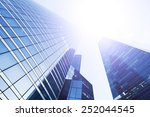 modern business background with ... | Shutterstock . vector #252044545