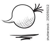 hand drawn beet illustration | Shutterstock .eps vector #252050212