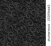Black Floral Seamless Pattern...