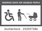 Reserved Seats For Disabled...