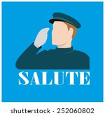 icon of a forces personal... | Shutterstock .eps vector #252060802
