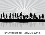 group of people | Shutterstock .eps vector #252061246