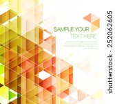 abstract triangular background. ... | Shutterstock .eps vector #252062605