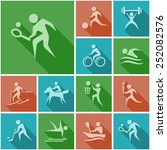 sport flat icons   Shutterstock .eps vector #252082576