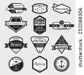 retro vintage insignias or... | Shutterstock .eps vector #252088306