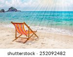 Lounge Chair On The Bay Beach...