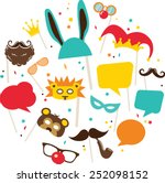 photobooth birthday and party... | Shutterstock .eps vector #252098152