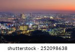 seoul city and downtown skyline ... | Shutterstock . vector #252098638