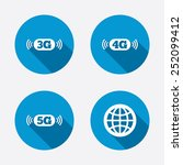 mobile telecommunications icons.... | Shutterstock .eps vector #252099412