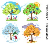 Four Seasons Trees Clipart And...