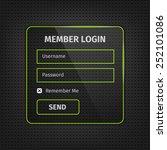 member login user interface...