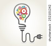 creative light bulb | Shutterstock .eps vector #252101242