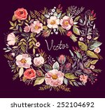 vintage background with hand... | Shutterstock .eps vector #252104692