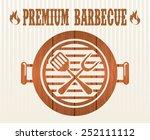 barbecue restaurant design ... | Shutterstock .eps vector #252111112