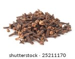 heap of dried cloves  isolated... | Shutterstock . vector #25211170
