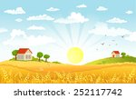 countryside panorama in the... | Shutterstock .eps vector #252117742