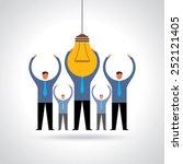 bulb lamp head of businessman...   Shutterstock .eps vector #252121405