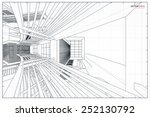 perspective 3d render of... | Shutterstock .eps vector #252130792