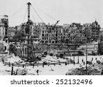 bombed buildings along vienna's ... | Shutterstock . vector #252132496