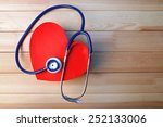 stethoscope with heart on... | Shutterstock . vector #252133006