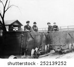 children coal miners  circa... | Shutterstock . vector #252139252