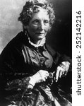 Small photo of Harriet Beecher Stowe (1811-1896), author of 'Uncle Tom's Cabin'