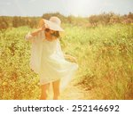 happy beautiful young woman... | Shutterstock . vector #252146692
