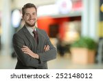 young businessman at the... | Shutterstock . vector #252148012