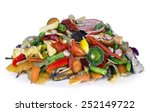 the heap of the edible decaying ... | Shutterstock . vector #252149722
