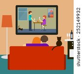 bright colored illustration in... | Shutterstock . vector #252149932