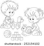 kids playing | Shutterstock .eps vector #252154102