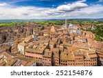 aerial view over siena  italy | Shutterstock . vector #252154876