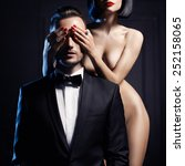 fashion studio photo of a... | Shutterstock . vector #252158065