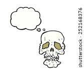 cartoon skull with thought...   Shutterstock . vector #252168376