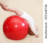 baby fitness. mother doing... | Shutterstock . vector #252168736