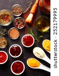 close up fresh various spices... | Shutterstock . vector #252179995