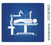 robot assisted surgery  medical ... | Shutterstock .eps vector #252187822