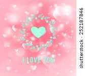 happy valentines day card... | Shutterstock .eps vector #252187846