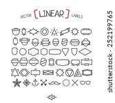 vector linear labels for your... | Shutterstock .eps vector #252199765