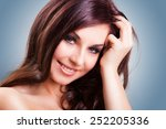 attractive smiling woman | Shutterstock . vector #252205336