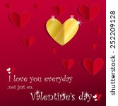 valentines day card with a...   Shutterstock .eps vector #252209128