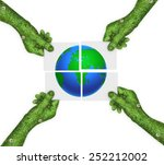 Hand  Ecology Symbol Planet...