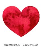 red bright heart. symbol of... | Shutterstock . vector #252224362