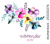 Watercolor Floral Composition....