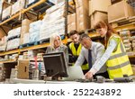 warehouse managers and worker... | Shutterstock . vector #252243892